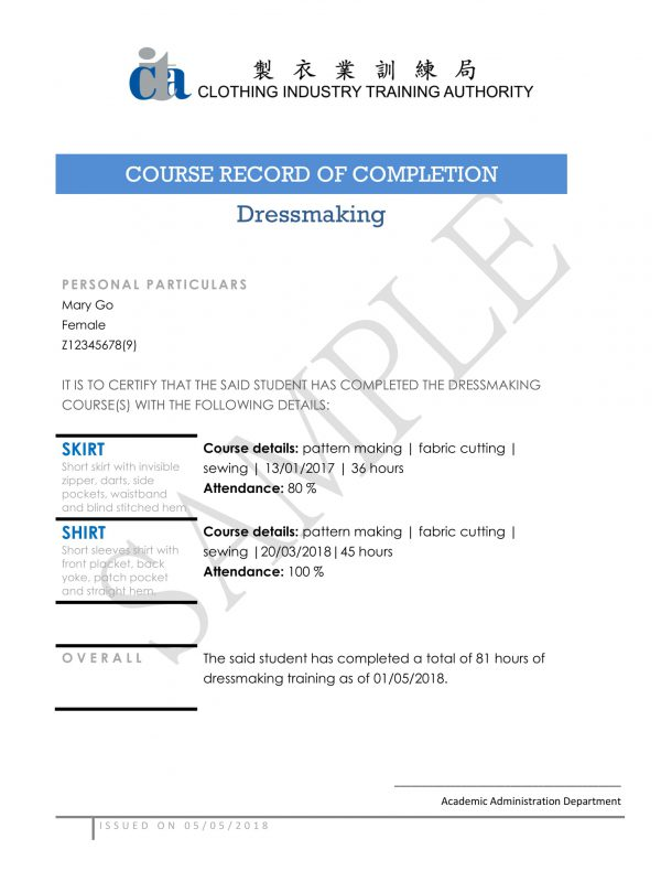 COURSE RECORD OF COMPLETION-1