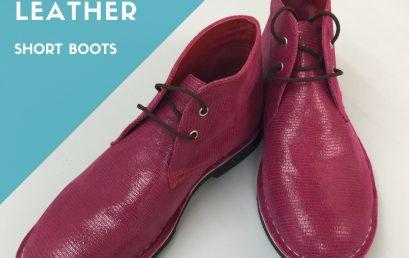 手製短皮靴
