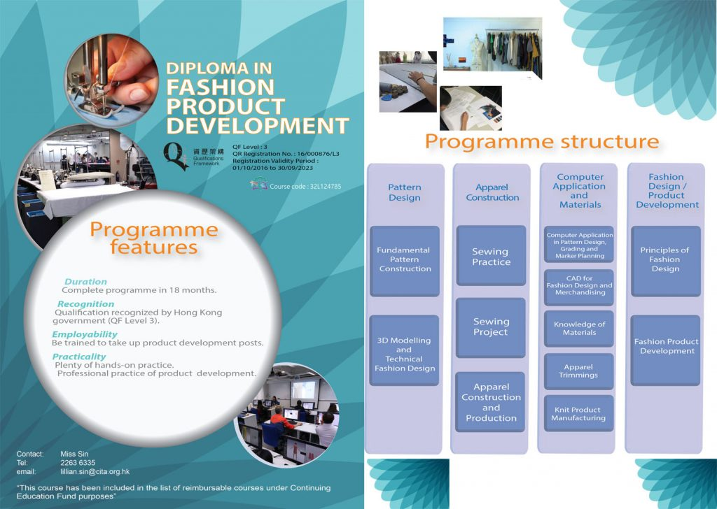 Diploma In Fashion Product Development Cef Course Clothing Industry Training Authority