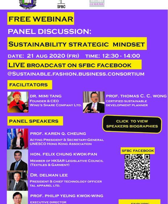 FREE Webinar Panel Discussion: Sustainability Strategic Mindset